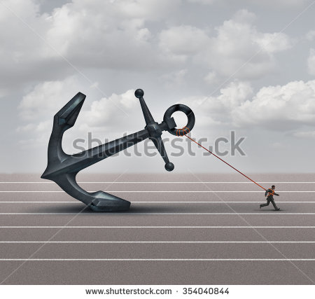 stock-photo-career-burden-and-business-stress-concept-as-a-businessman-or-worker-pulling-a-giant-heavy-metal-354040844